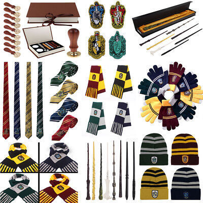 Harry Potter Scarf Tie Hat Gryffindor Slytherin Hufflepuff Ravenclaw Cosplay Hot