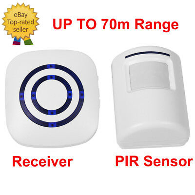 38 Chime LED Wireless Motion Sensor Door Bell PIR Detector Security Alert System