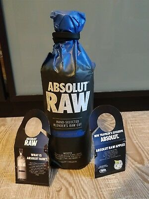 Absolut vodka Raw limited Edition with 2 tags!!!