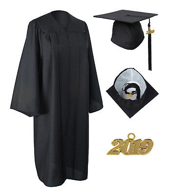 Graduation Matte Gown Cap Tassel with 2018 and 2019 Year Charms Package