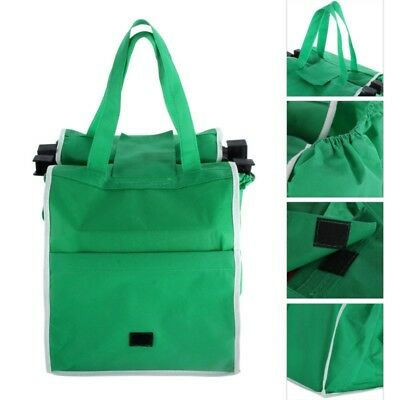 US Reusable Shopping Bags Eco Foldable Trolley Tote Grocery Cart Storage 1/2Pcs