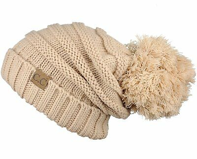 6c91b14602d Hatsandscarf CC Exclusives Unisex Oversized Slouchy Beanie with Pom (HAT- 6242.