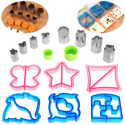 OUNONA Lunch Sandwich Cake Bread Toast Cookies Biscuit Cutter Mold Mould AU Set