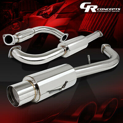 """4.5/"""" MUFFLER TIP CATBACK RACING EXHAUST SYSTEM FOR 95-99 MITSUBISHI ECLIPSE 420A"""
