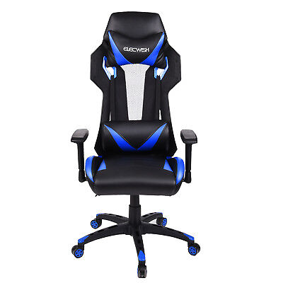 Office Gaming Chair High Back Mesh PU Leather Seat Racing Swivel Adjustable Home