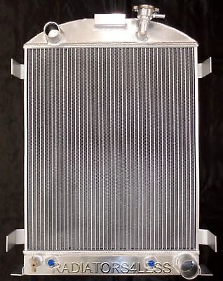 New 3 Row Aluminum Radiator 1932 Ford High Boy Chevy Engine Great Quality !!