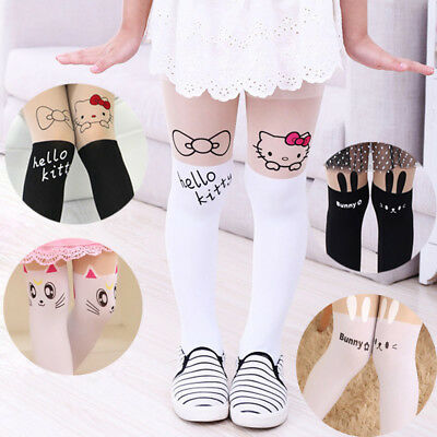Baby Kids Girls Cotton Cat Tights Socks Stockings Pants Hosiery Pantyhose New R