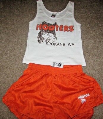 HOOTERS UNIFORM HALLOWEEN COSTUME Tank and Shorts Small NWT