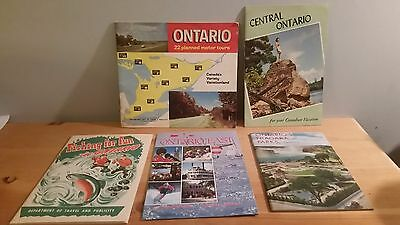 Ontario Yours to Discover Lot of 5  Vintage brochures Fishing fun, motor tours.