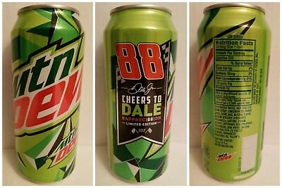 """(1) 16 fl. oz. Mountain Dew """"CHEERS TO DALE"""" #APPRECI88ION -Limited Edition- Can"""