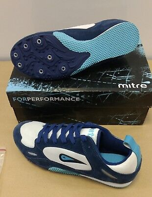 Mitre track spike running shoes navylight bluewhite size uk11 mitre track spike running shoes navylight bluewhite size uk11 aloadofball Image collections