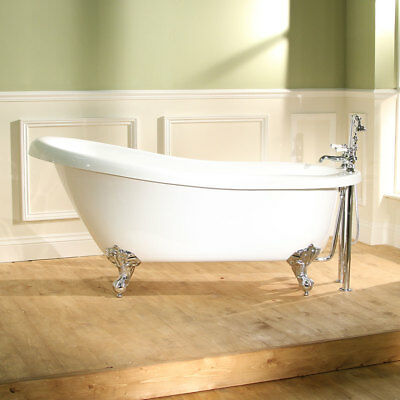 Traditional Freestanding Bath Victorian Bathroom Roll Top ; Single Ended 1700mm