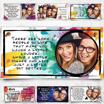 Personalised Photo Plaque Best Friends Make Life Good Birthday Christmas Gift !