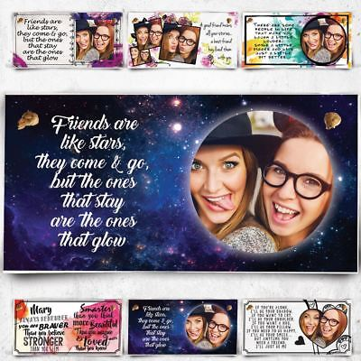 Personalised Photo Plaque Best Friends Are Like Stars Christmas Gift BFF Xmas !