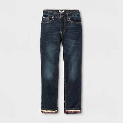 Boys' Flannel-Lined Denim Jeans - Cat & Jack™ Medium Blue 7