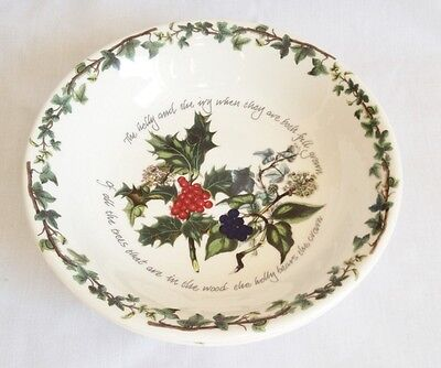 Portmeirion The Holly and The Ivy Pasta Bowls x 2 - New and Unused - 8 1/2 Inch