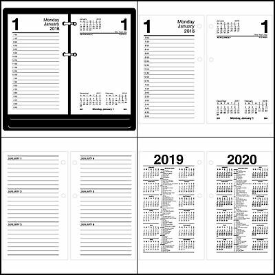 AT-A-GLANCE® Recycled Desk Calendar Refill, 3 1/2 x 6, White, 2018