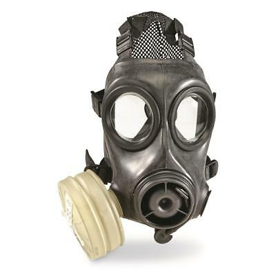 Military Surplus Avon FM12 Gas Mask + NBC Filter Size 3 Small DUAL PORT CBRN