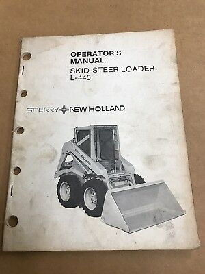 New Holland Skid Steer Operators Manual L-445