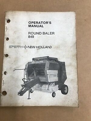 New Holland 849 Round Baler Operators Manual 42084910