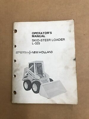 New Holland L-325 Skid Steer Loader Operator's Manual
