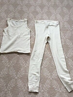 HOCOSA of Switzerland, Kid's LongJohn Set, Wool/Silk, size 140 (approx. 10)