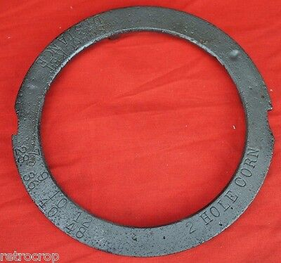 Cole Charlotte NC Corn & Cotton 1 Row Planter 2 Hole Cell Corn Seed Plate Disc