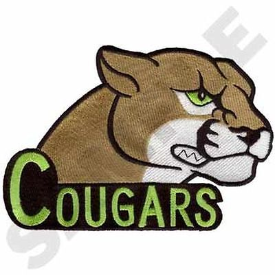 """Cougars Embroidered Patch 7""""x5"""""""
