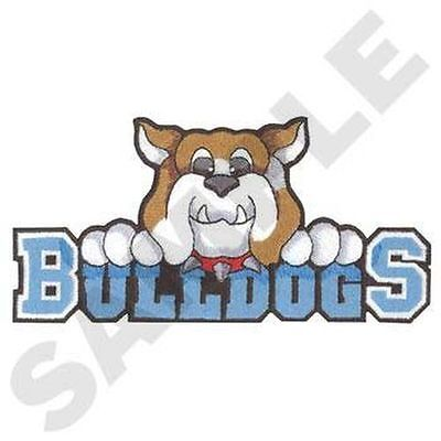 """Bulldogs Embroidered  Patch Approx  6.99 """" W X 3.47 """" H"""