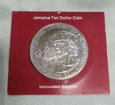 1975 Jamaica Franklin Mint Uncirculated $10 Coin
