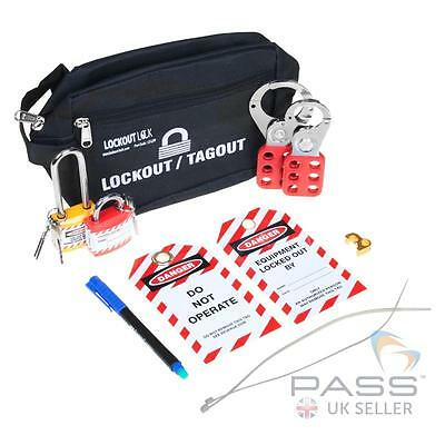 Lockout Tagout Starter Kit includes Hasps, Padlocks, Tags, MCB, Case and more!