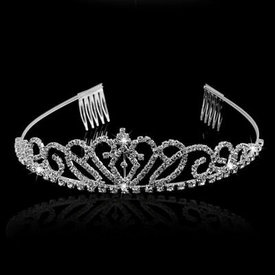 Rhinestone Crystal Tiara Hair Band Kid Girl Bridal Princess Crown Headband