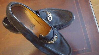 Salvatore Ferragamo Black Suede Men's Loafer- size 11 shoe