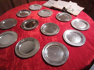 "Set:12~S. Kirk & Son STERLING 58 Silver 6"" Bread/Butter Plates~CNM~Script Mongrm"