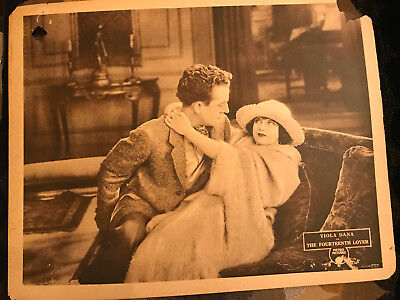 The Fourteenth Lover 1922 Metro silent lobby card Viola Dana Jack Mulhall