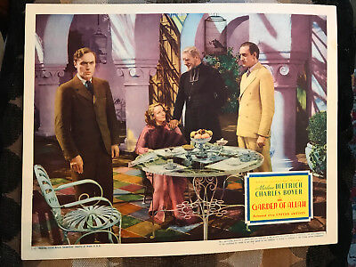 Garden Of Allah 1936 United Artists lobby card Marlene Dietrich Basil Rathbone