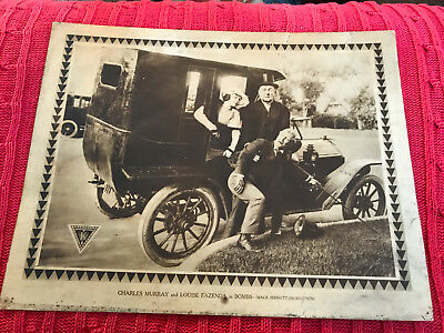 Bombs 1916 Mack Sennett/Triangle silent comedy lobby card Charles Murray Louise