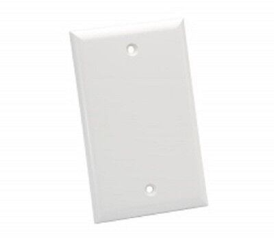 BLANK PLASTIC FACE WALL PLATE COVER 1 Gang 2 Free Screws White SHATTER RESISTANT