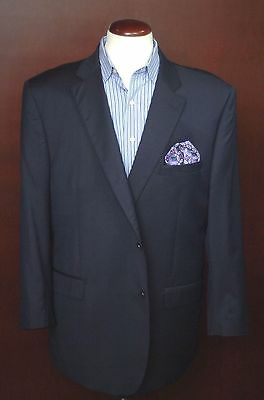 Ermenegildo Zegna Men's Navy Blue 100% Wool Blazer Sport Coat 40R 40 Regular
