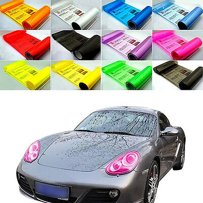 HK- Auto Car Fog Light Headlight Taillight Tint Vinyl Film Sheet Sticker Decal C