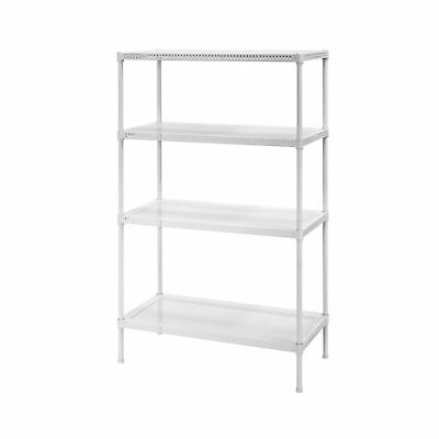 Muscle Rack PWS301447-4W Steel Wire Shelving 4 Adjustable Shelves 330 lb Per ...