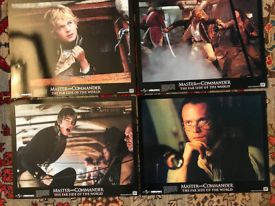 Master And Commander 2003 lobby cards(4) Russell Crowe