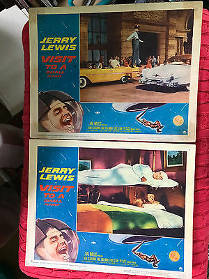 Visit To A Small Planet 1960 Paramount comedy lobby cards(2) Jerry Lewis