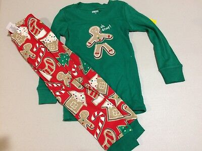 NWT Gymboree Christmas Boys Girls Gymmies GingerBread Pajamas Holiday Oh Snap