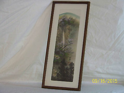 """Old""Chinese Original Oil Mixed Media On Silk Landscape Painting Signed & Marked"