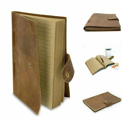Vintage Bound Leather Cover Handmade designed Journal Notebook Men Women Diary