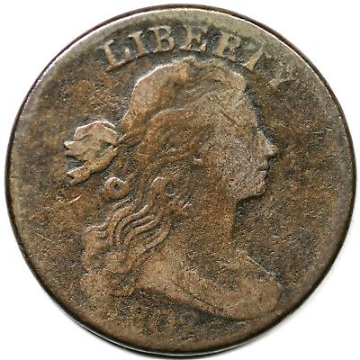 1802 Draped Bust (s-227, R2) Large Cent Coin 1c