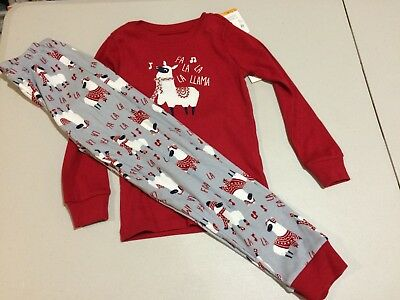 NWT Gymboree Christmas Boys Girls Gymmies Llama Fa La La  Pajama Set Holiday