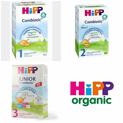 Hipp Combiotic 1 2 3 Organic Follow-On Milk 1-6-12 Months And Up 2x800G 3x500g