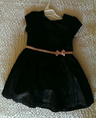 Carters Girls Adorable Summer Fancy Formal Dress Black NWT Size 2T